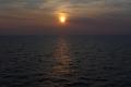 Sonnenuntergang auf dem Weg nach Kiel