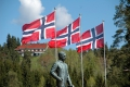 Norwegische Flaggen