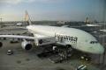 A380 vor dem Abflug in Frankfurt