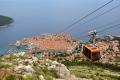 Dubrovnik: Ausblick von der Bergstation der Seilbahn auf die Altstadt