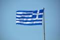 Griechische Flagge auf Rhodos