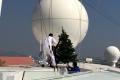 AIDAaura mit Weihnachtsbaum