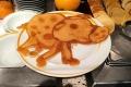 Pancake-Kunst im Marktrestaurant