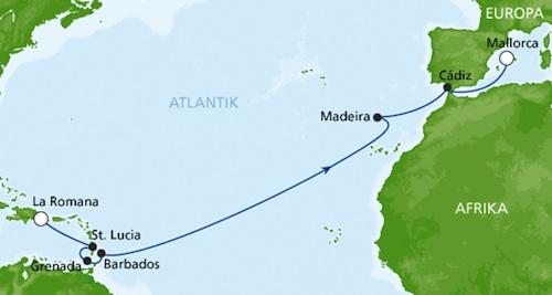 AIDA - Transatlantik 7