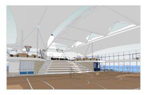 Arena mit Sonnensegel auf Mein Schiff 6 · © TUI Cruises