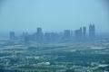 Dubai: Skyline vom 27. Stockwerk des Burj al Arab aus gesehen