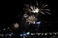 Feuerwerk im Hamburger Hafen
