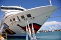 Korfu: AIDAaura im Hafen