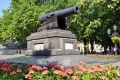 Odessa: Kanone vor dem Rathaus