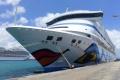 AIDAaura im Hafen von Barbados