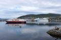 Hurtigruten und AIDAcara in Hammerfest