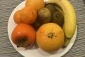 Obstteller in der Kabine