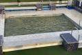 Poollandschaft auf AIDAmira (hier noch mit Meerwasser gefüllt)