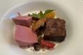 Selection Restaurant: Schokoladenküchlein mit Himbeerparfait