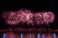 Feuerwerk nach der Taufe
