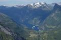 Blick vom Dalsnibba in der Geirangerfjord