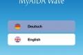 MyAIDA Wave - Sprachauswahl
