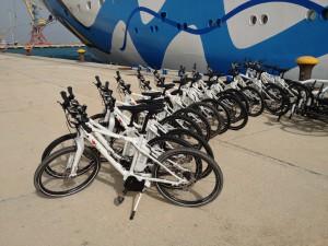 E-Bikes auf AIDAdiva