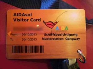 Besucherausweis AIDAsol