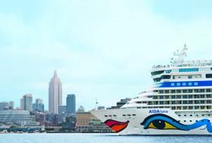 AIDAluna in New York · © AIDA Cruises