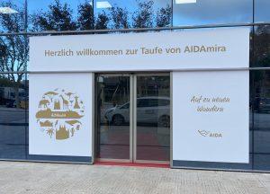 """Eingangsschild """"AIDAmira"""""""