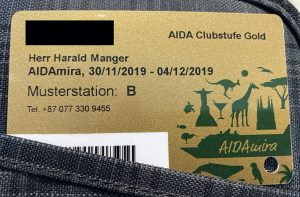 AIDAmira Bordkarte