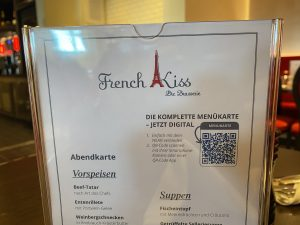 Speisekarte mit QR-Code