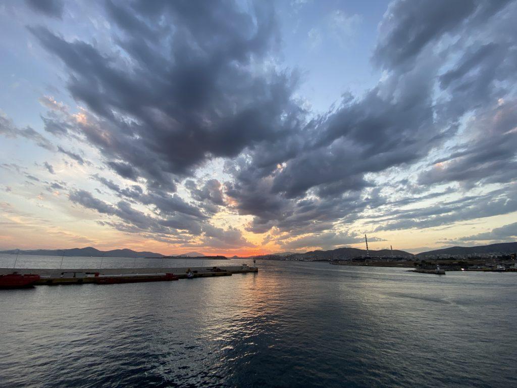 Sonnenuntergang Piräus