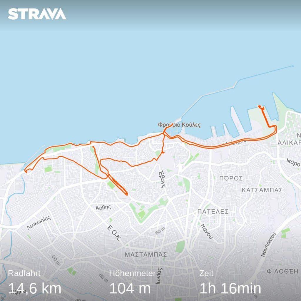 Route auf Heraklion