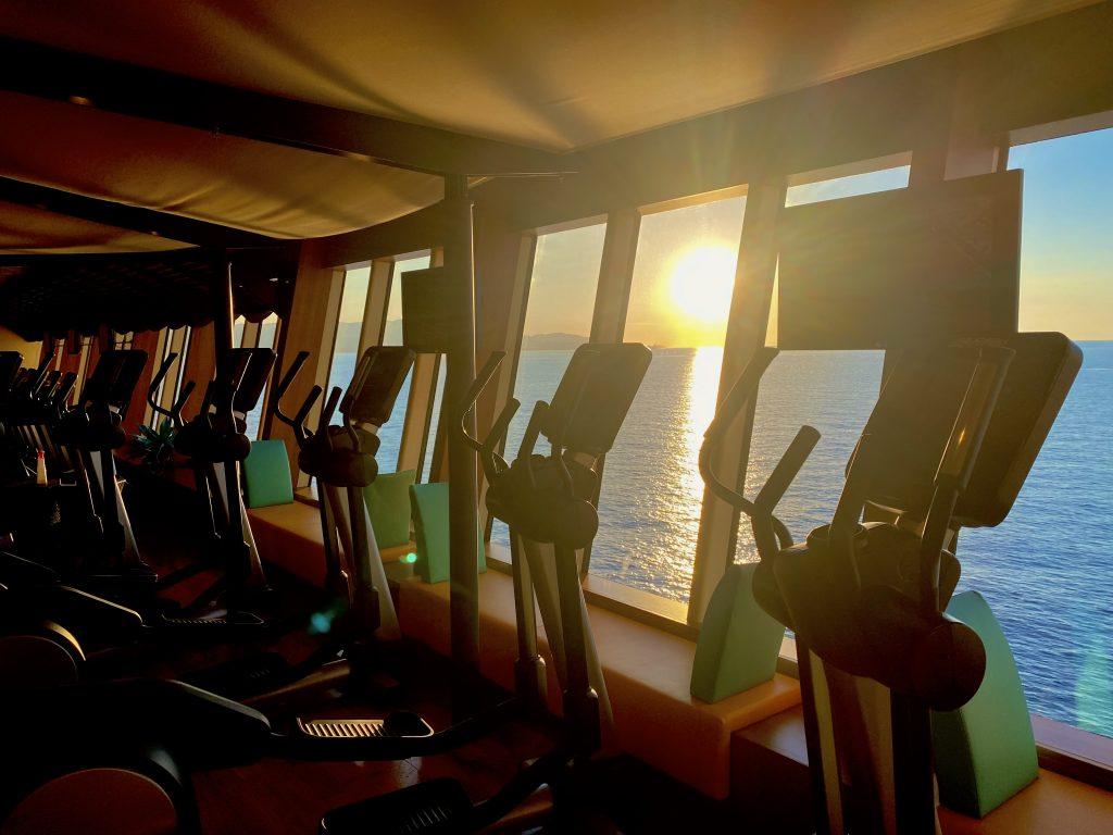 Sonnenuntergang auf dem Crosstrainer