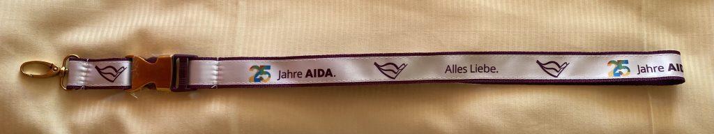 AIDA-Geburtstagslanyard