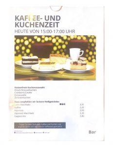 Kaffee- und Kuchenzeit